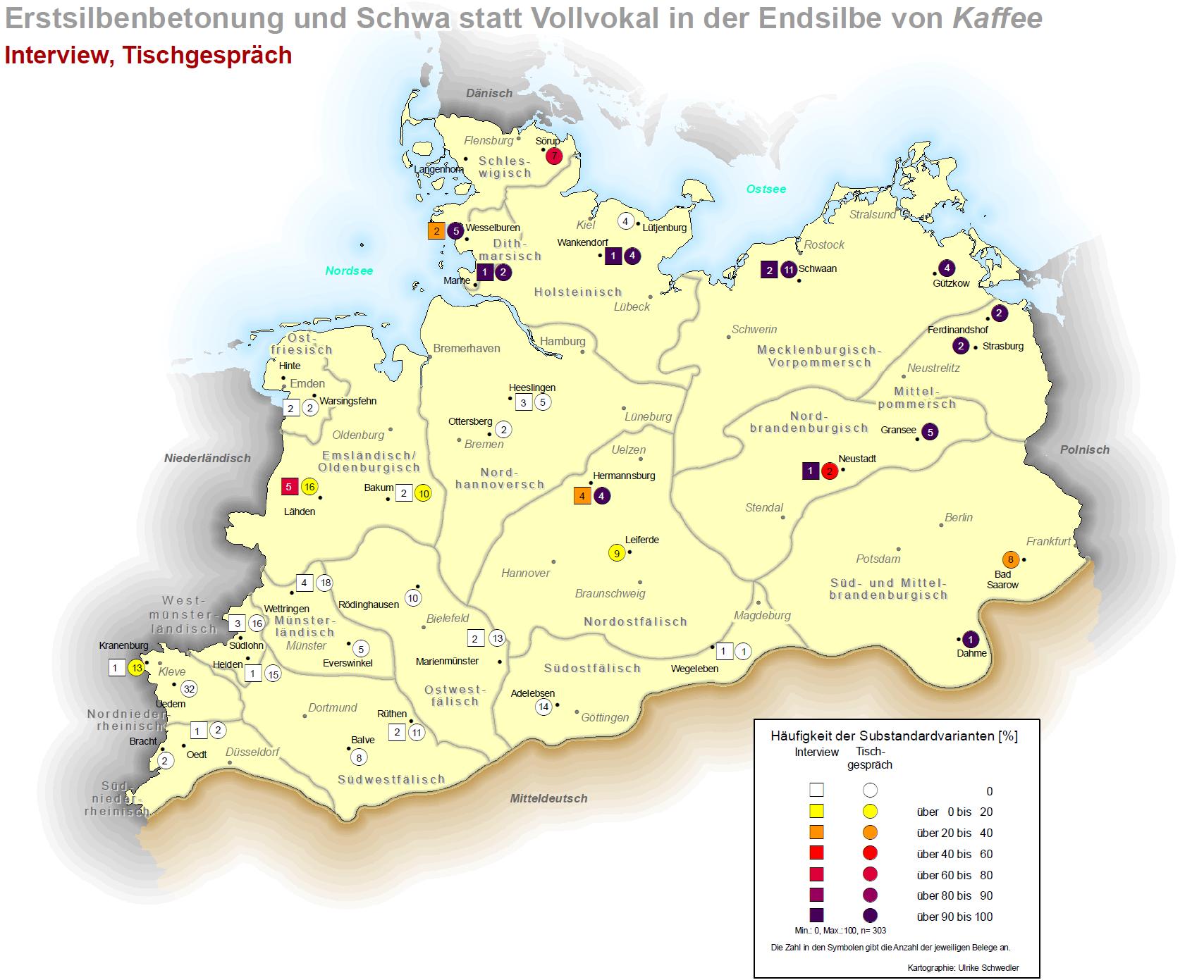 Norddeutschland Karte.Teilprojekt 1 Areale Differenzen In Situalekten Und